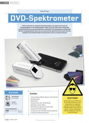 Mit Pappe und einer DVD ist ein Spektroskop zur Lichtanalyse schnell gebaut