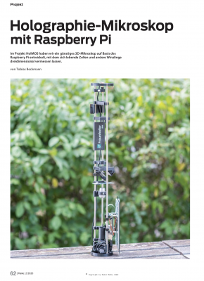 Ein günstiges 3D-Mikroskop mit dem Raspberry Pi und freier Software