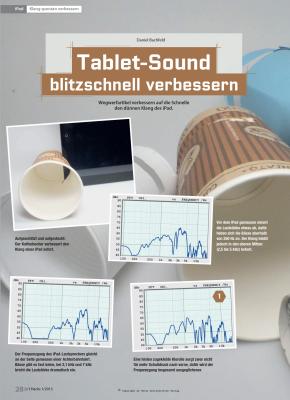 Wegwerfartikel verbessern auf die Schnelle den dünnen Klang von Smartphones und Tablets.