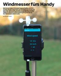 Wind messen mit dem Handy